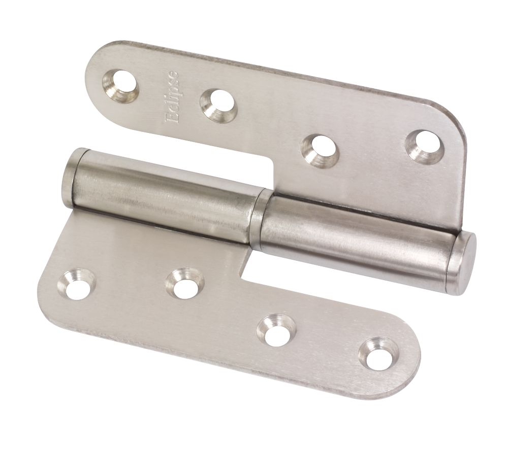 Eclipse Satin Stainless Steel  Lift-Off Hinge 102 x 89mm 2 Pack