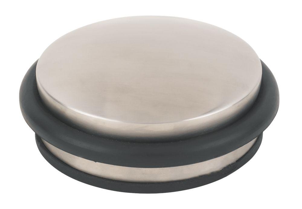 Dome Weight Door Stop Satin Stainless Steel