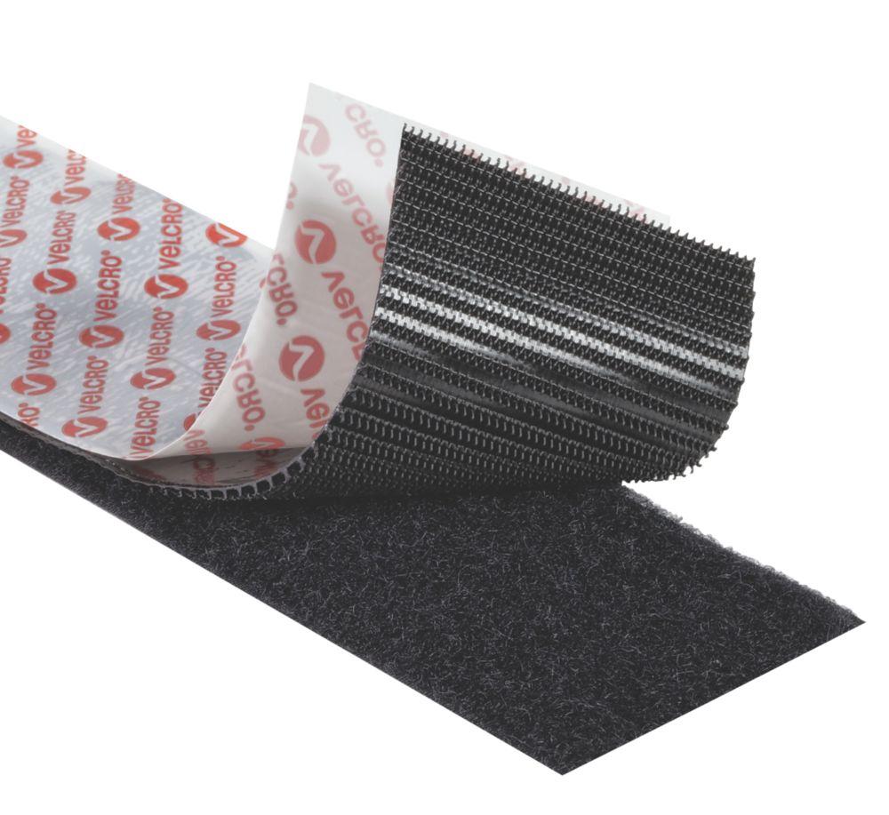 Velcro Brand  Black Heavy Duty Stick-On Tape 5 x 50mm