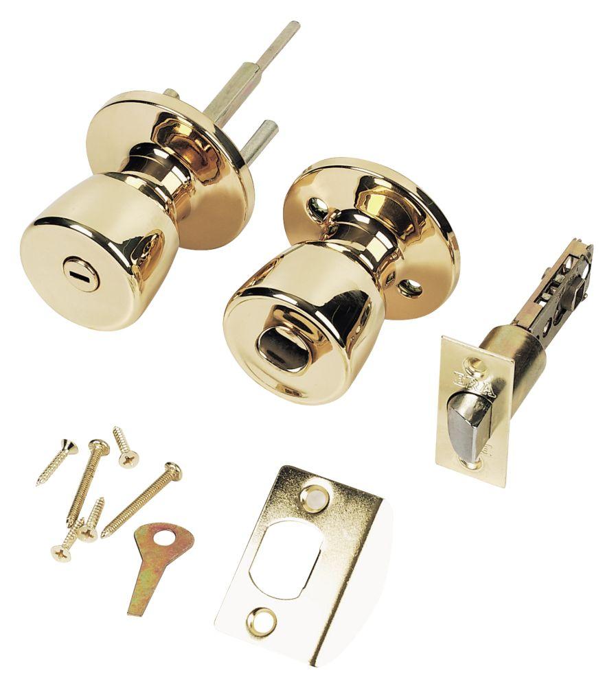 ERA  Lever Type A Door Handle Pack Polished Brass 67mm