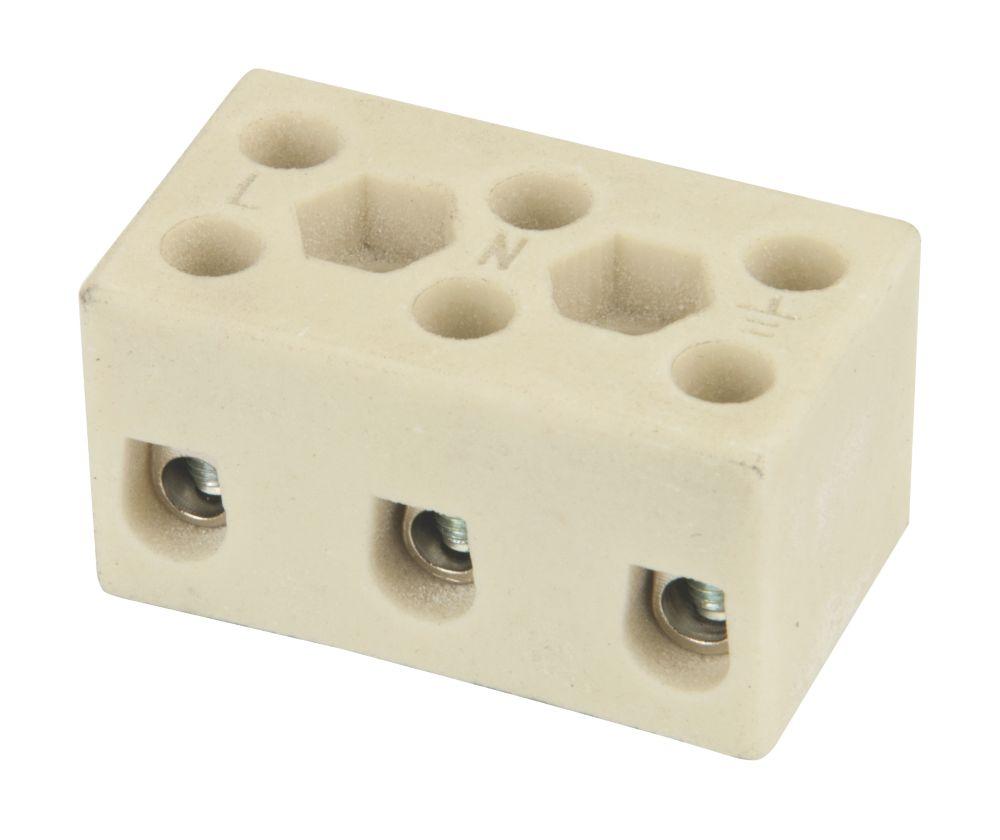 Hylec 32A 3-Pole Terminal Block 5 Pack