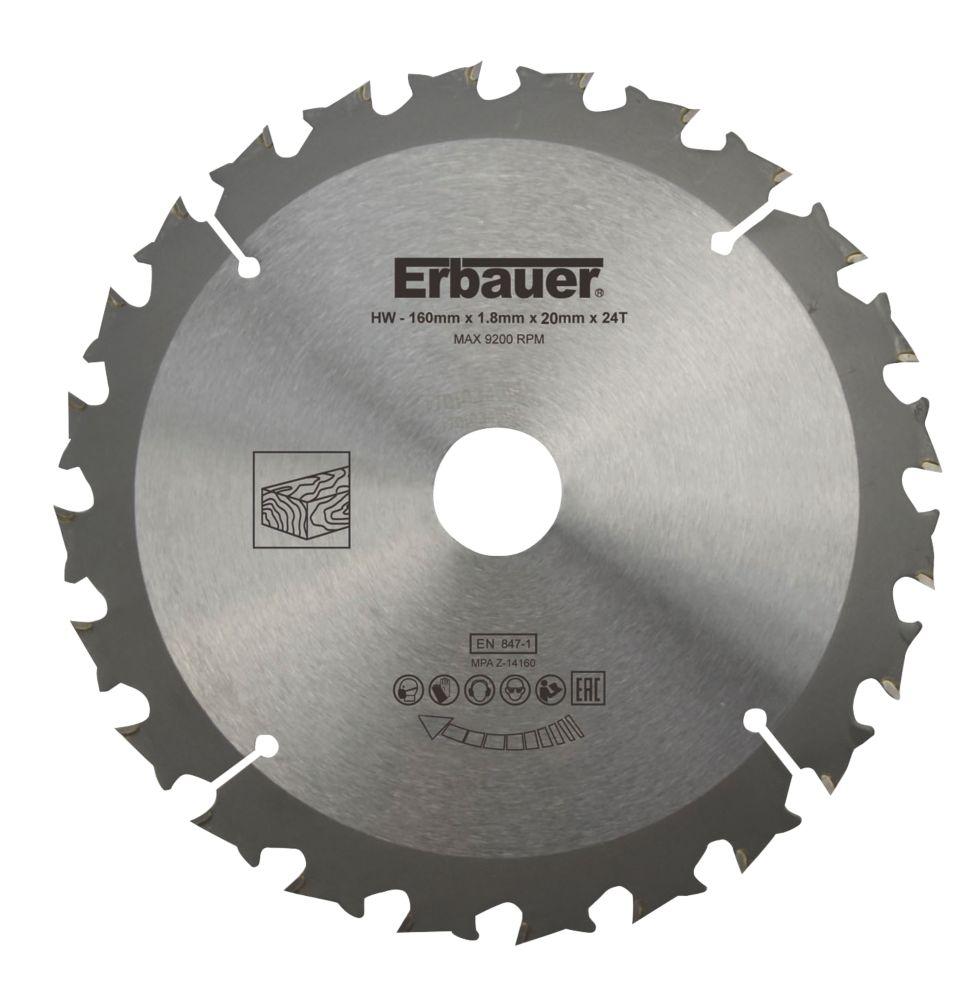 Erbauer TCT Saw Blade 160 x 20mm 24T