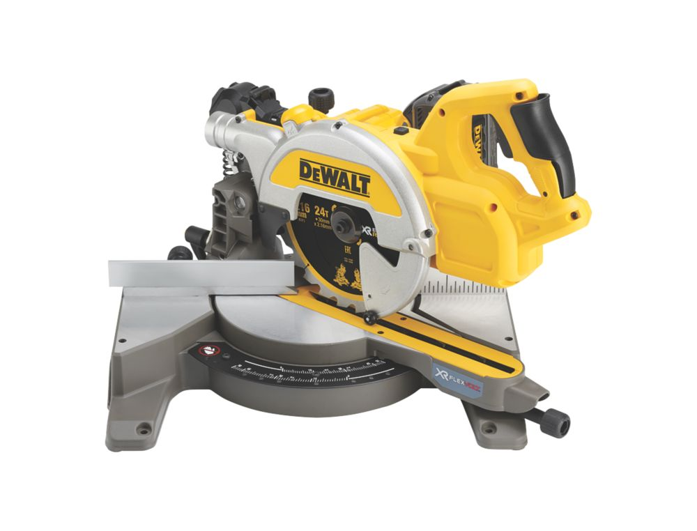 DeWalt DCS777T2-GB 216mm 54V 6.0Ah Li-Ion XR FlexVolt Brushless Cordless Single-Bevel Sliding Compound Mitre Saw