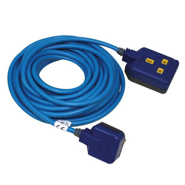 Masterplug 13A 1-Gang Unswitched  Extension Lead 10m