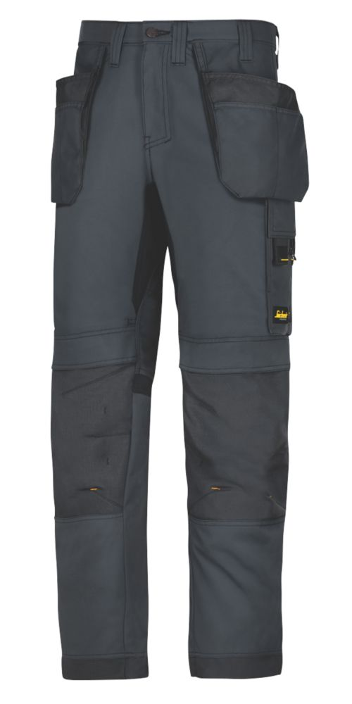 """Snickers AllRoundWork Everyday Work Trousers Steel Grey 31"""" W 35"""" L"""