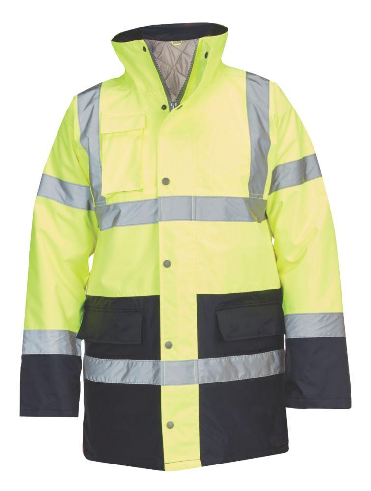 "Hi-Vis Traffic Jacket Yellow / Blue Large 54"" Chest"