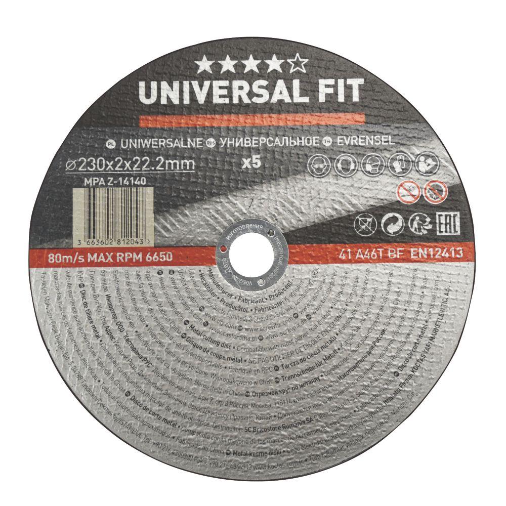 """Metal Metal Cutting Disc 9"""" (230mm) x 2 x 22.2mm 5 Pack"""