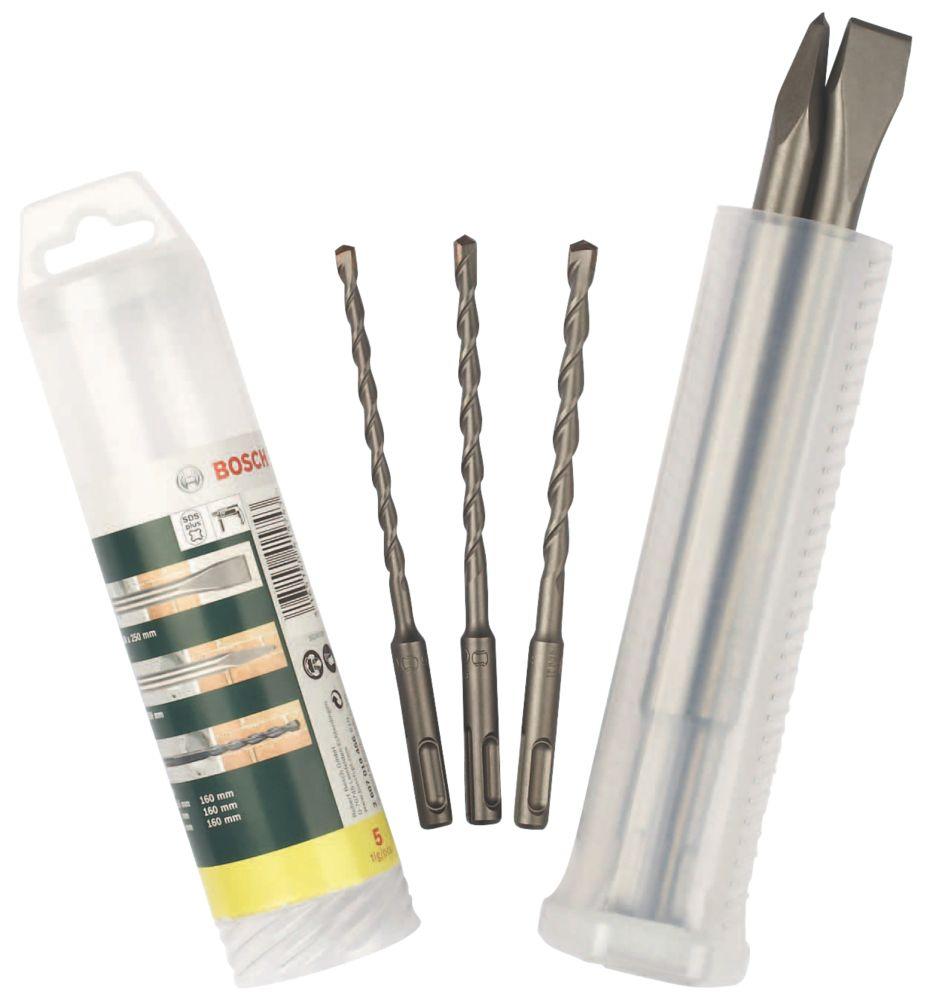Bosch  SDS Plus Shank Chisel & Drill Bit Set 5 Pieces