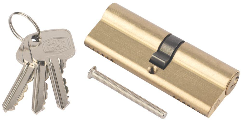 Smith & Locke 6-Pin Euro Cylinder 35-45 (80mm) Brass