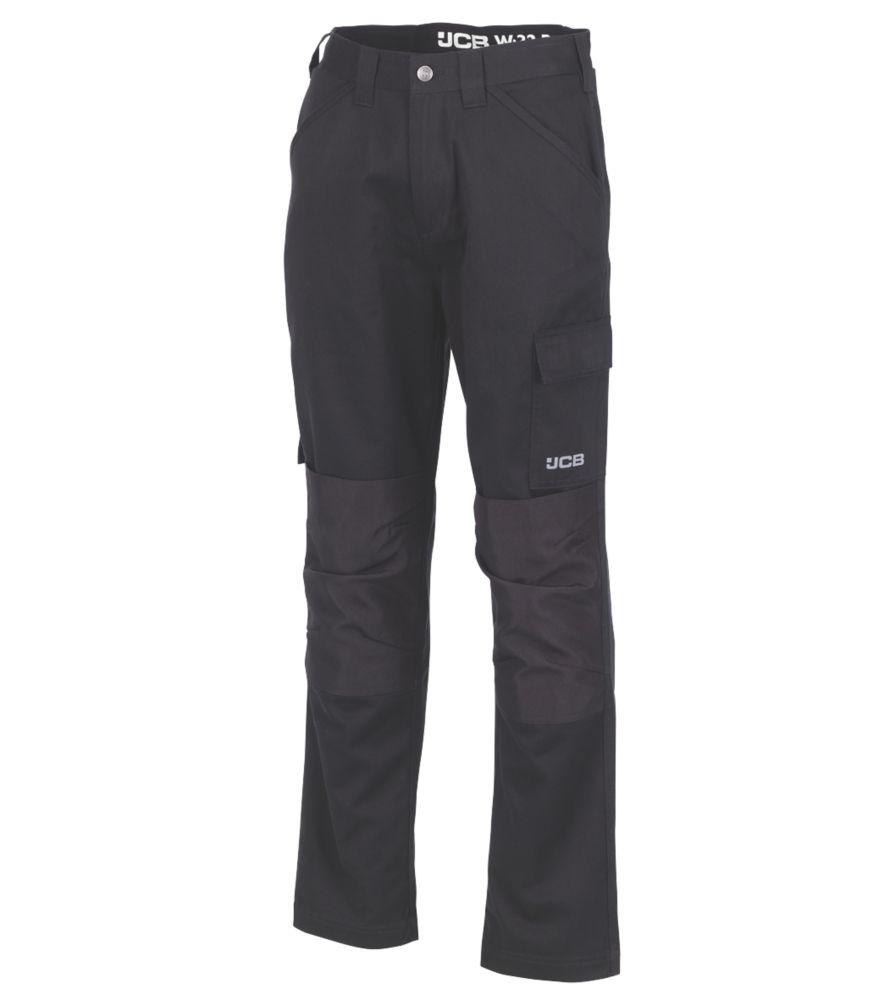 "JCB Essential Cargo Trousers Black 32"" W 32"" L"