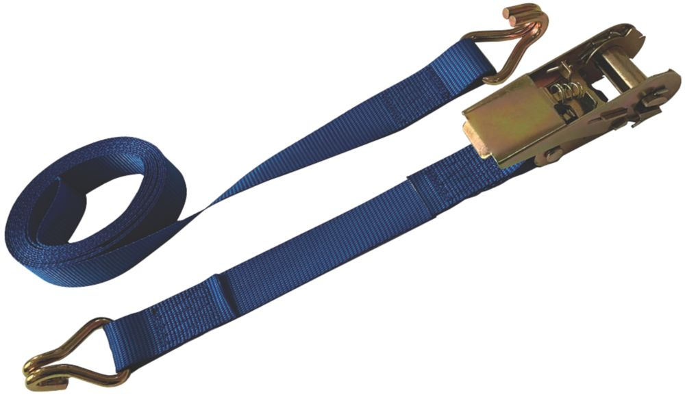 Ratchet Strap with J-Hooks 3m x 25mm