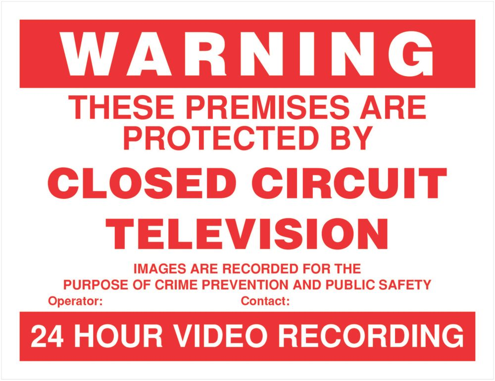 ''CCTV in Operation'' Signs 4 Pack