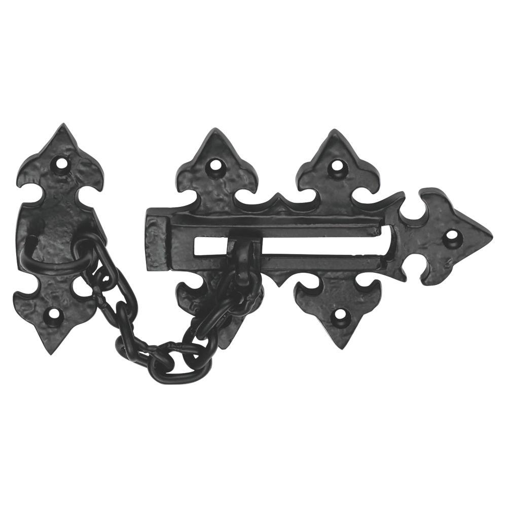 Carlisle Brass Fleur De Lys Door Chain  Antique Black