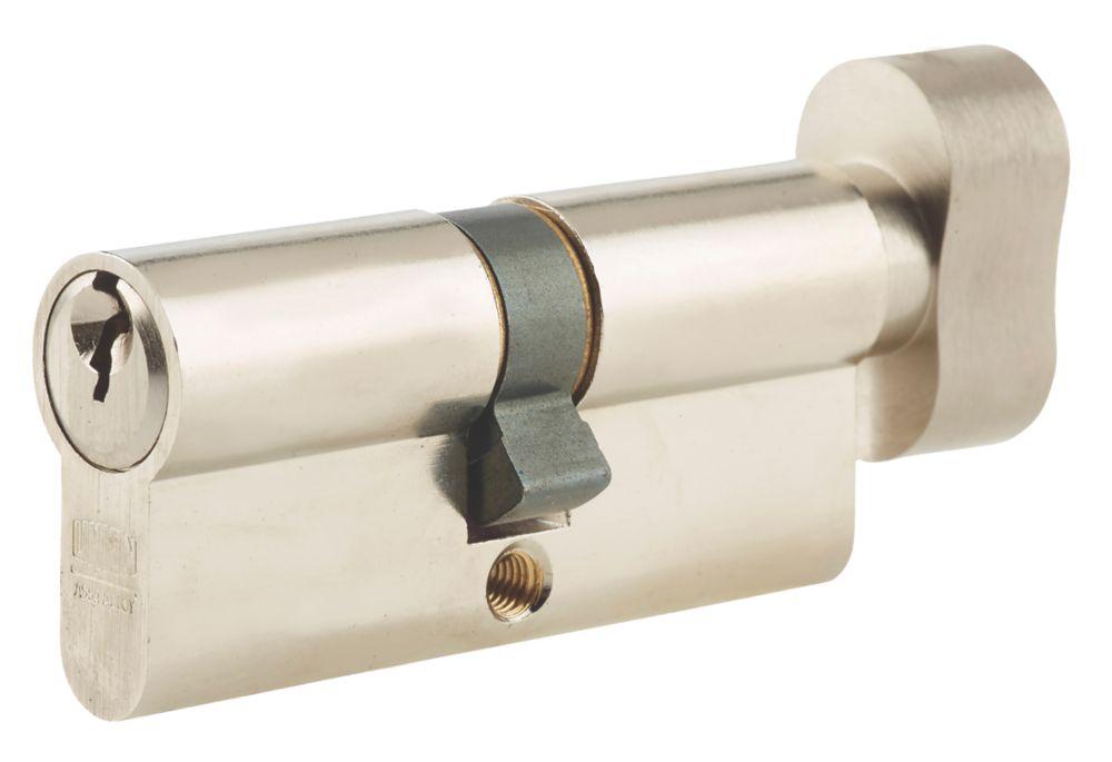 Union 6-Pin Thumbturn Euro Cylinder Lock 40-40 (80mm) Satin Nickel