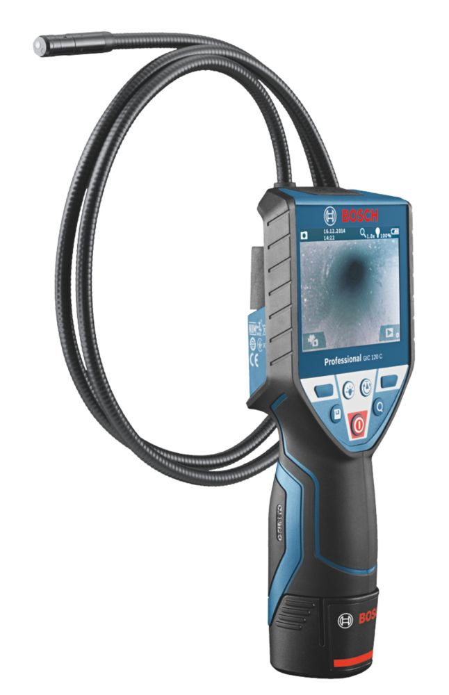 """Bosch GIC 120 C Professional Cordless Inspection Camera With 3½"""" Colour Screen"""