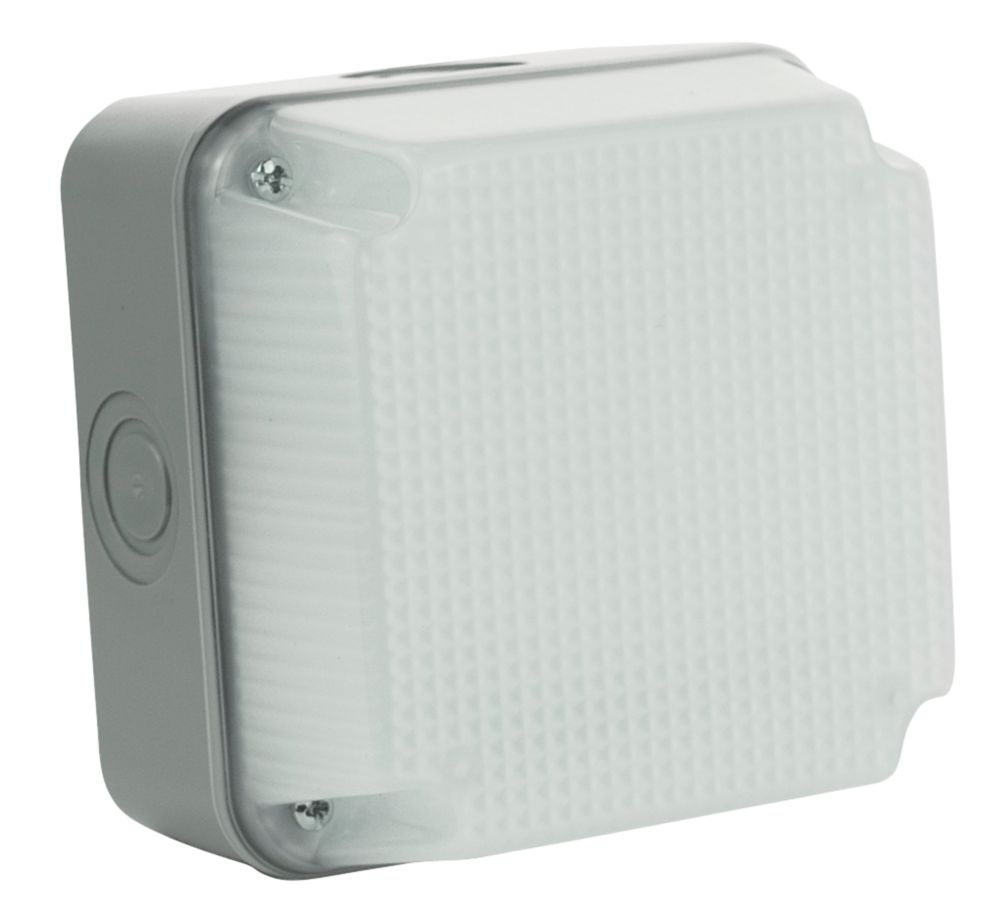 Luceco LBS1G4 Square LED Outdoor Bulkhead Grey 4W