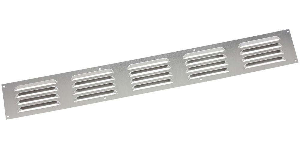 Map Vent Fixed Louvre Vent Silver 466 x 51mm