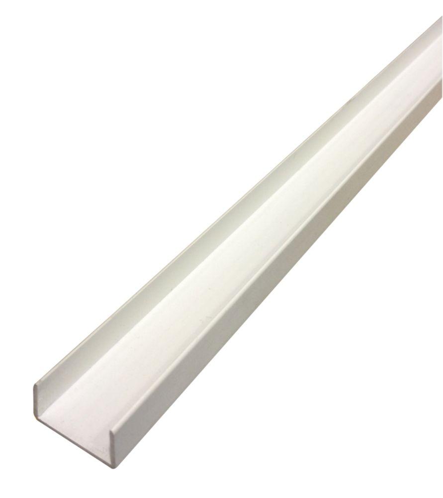 Alfer White PVC U-Profile 1000 x 12 x 10mm