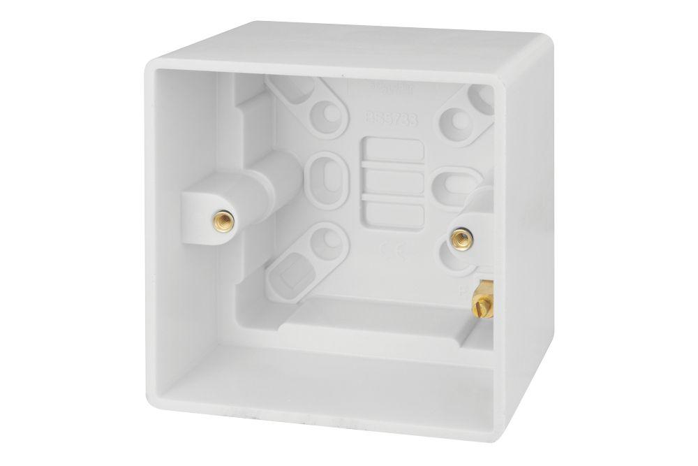 Schneider Electric Ultimate Slimline 1-Gang Surface Pattress Surface Pattress Box 40mm