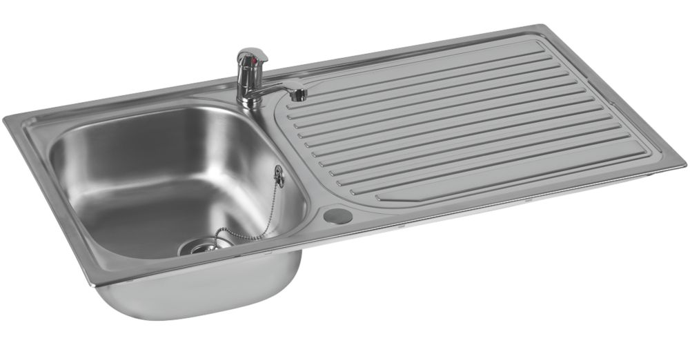Astracast Aegean  Stainless Steel Inset Sink & Tap  1 Bowl 965 x 500mm