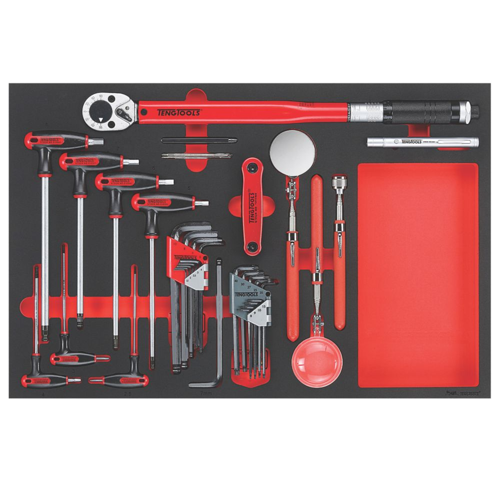 Teng Tools  EVA Hex key, Torque Wrench & Inspection Tool Set 17 Pieces