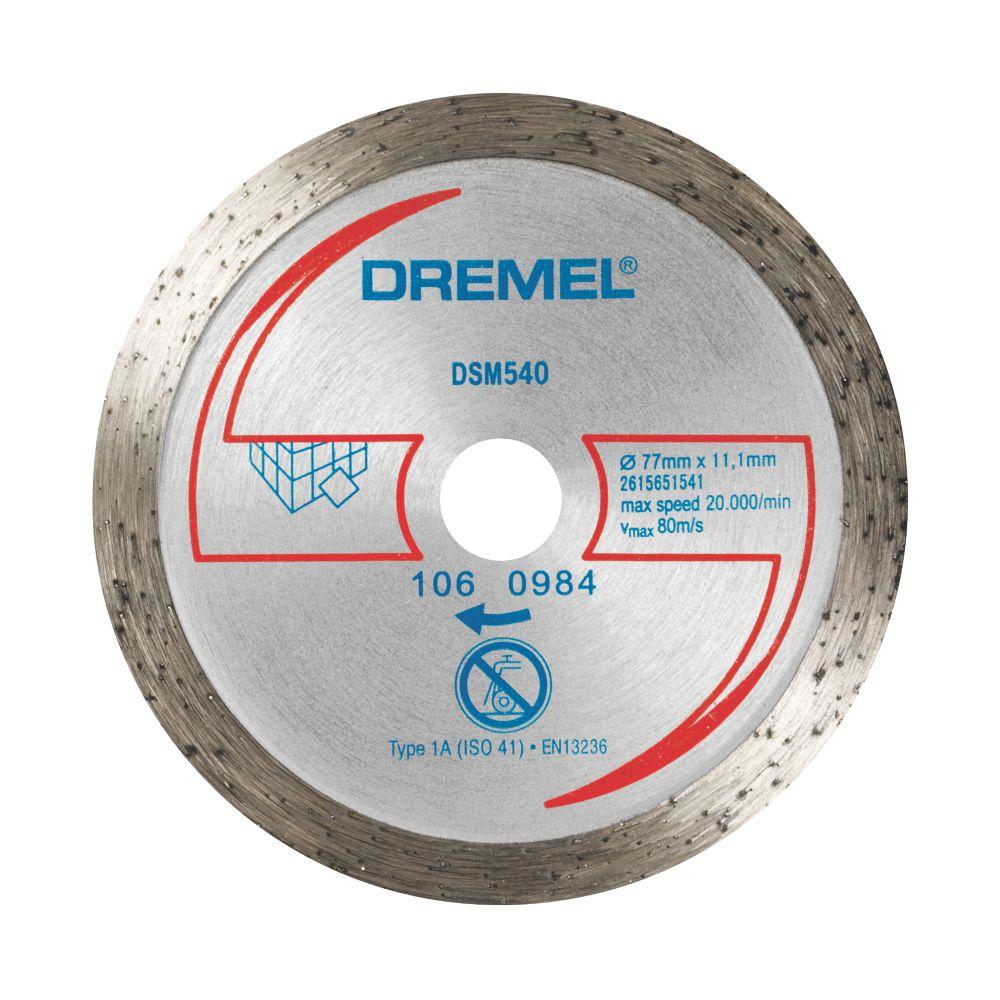 "Dremel Saw-Max Porcelain Diamond Tile Cutting Disc 2"" (55mm) x 5 x 11mm"