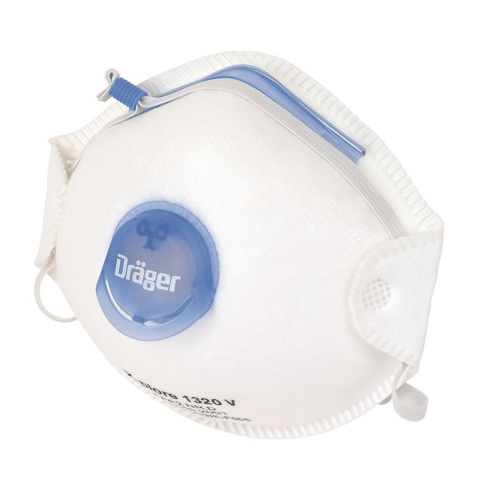 Draeger X-Plore 1320V Cup-Valved Dust Masks P2 10 Pack
