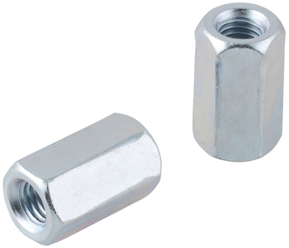 Easyfix Carbon Steel Threaded Rod Connecting Nuts M10 10 Pack