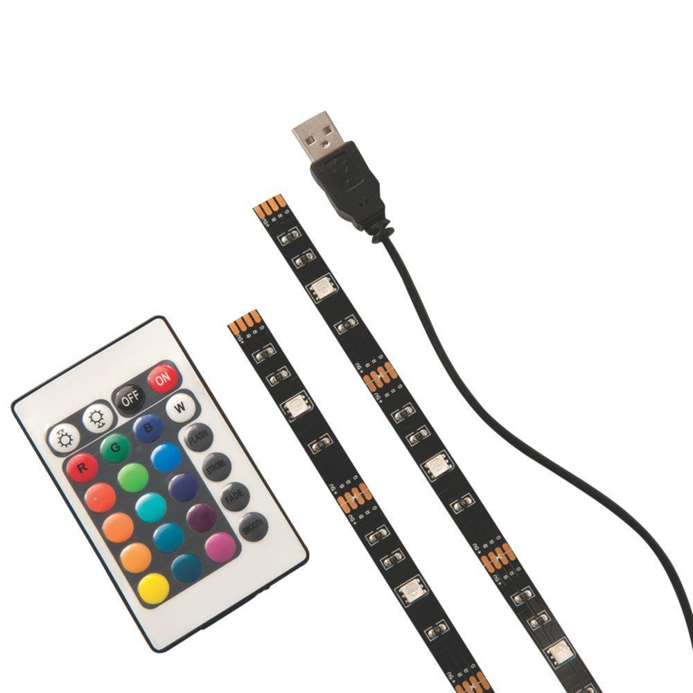 Luceco  RGB LED USB Tape Lights 2.5W 2 Pack