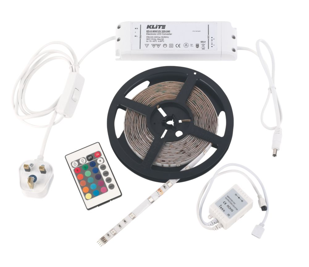 LED Cabinet Striplight Kit w/Remote Control 30W 58 / 250 / 74lm 12V