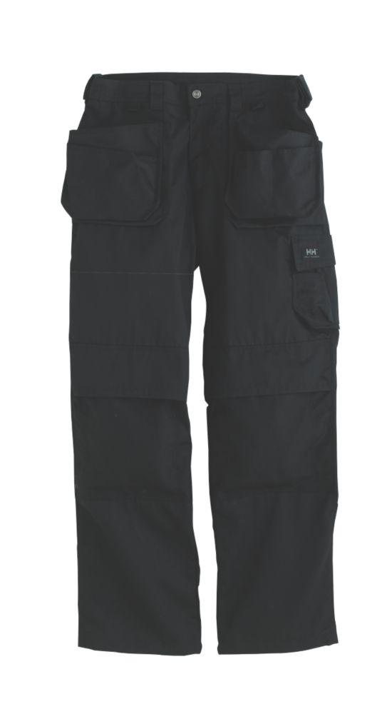 "Helly Hansen Ashford Knee Pad Trousers Black 33"" W 32"" L"