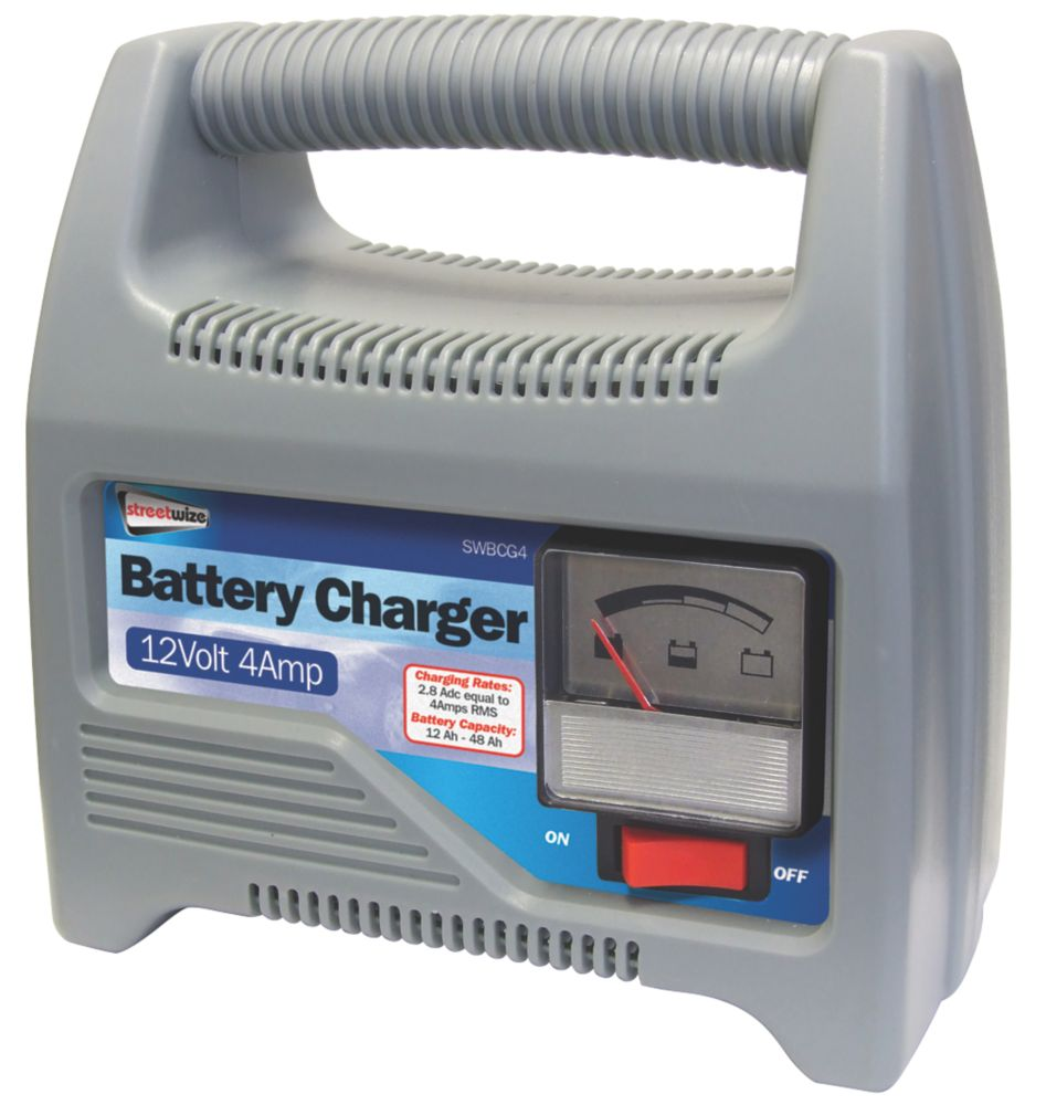 Streetwize SWBCG4 4A Battery Charger 12V