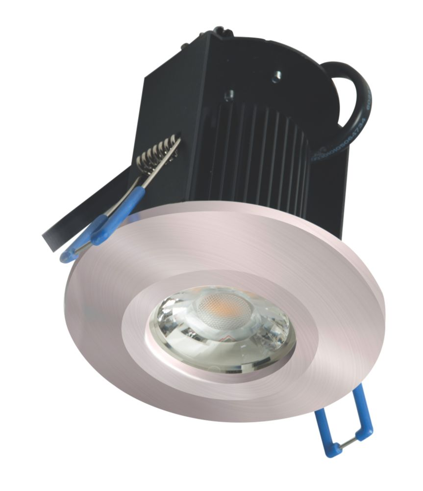 Robus Triumph Activate Sixsense Fixed  Fire Rated LED Downlight Brushed Chrome 680lm 8W 240V