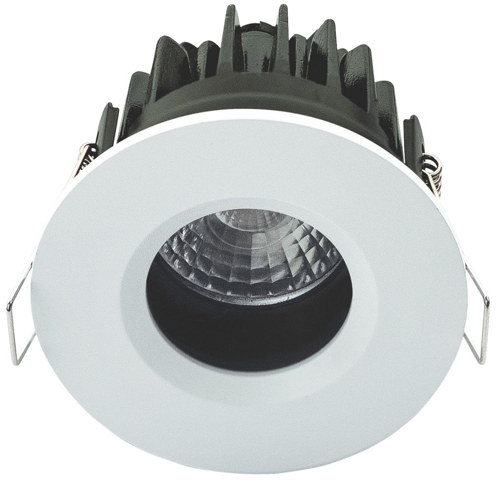 Luceco FType Element Recessed Fixed  Fire Rated LED Downlight White 600lm 7W 220-240V