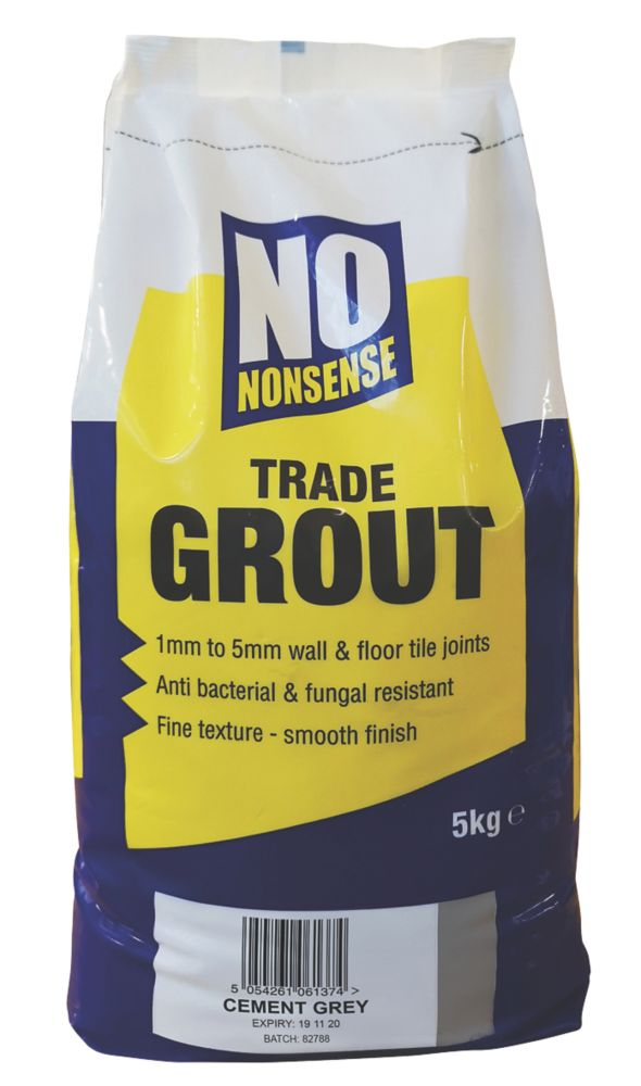No Nonsense  Wall & Floor No Mould Grout Cement Grey 5kg