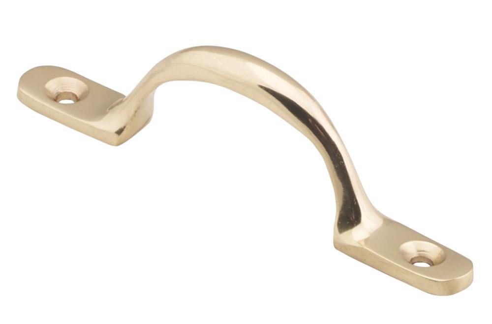 Carlisle Brass Sash Pull Handle Polished Brass 101.5 x 12mm