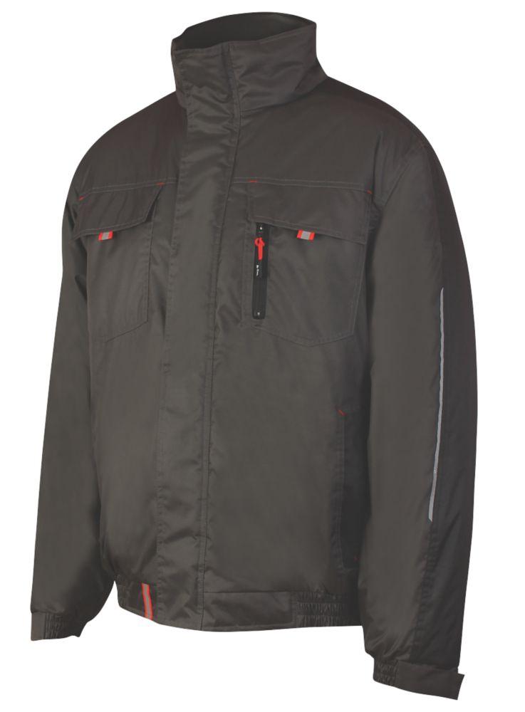 """Lee Cooper LCJKT447 Padded Showerproof Jacket Black  X Large 44"""" Chest"""
