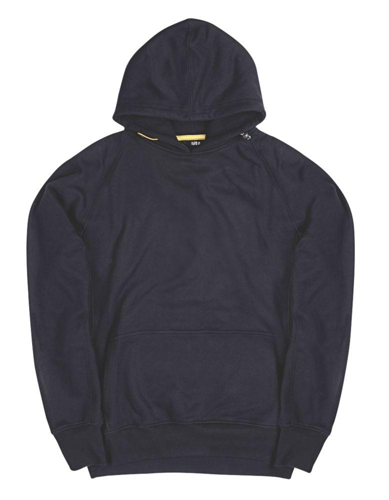 """Site Alder Hooded Sweatshirt Black Medium 39"""" Chest"""