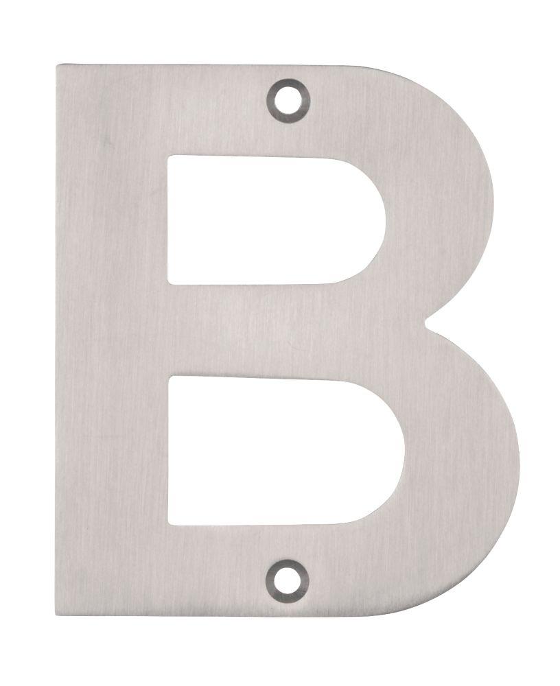 Eclipse Door Letter B Satin Stainless Steel 102mm