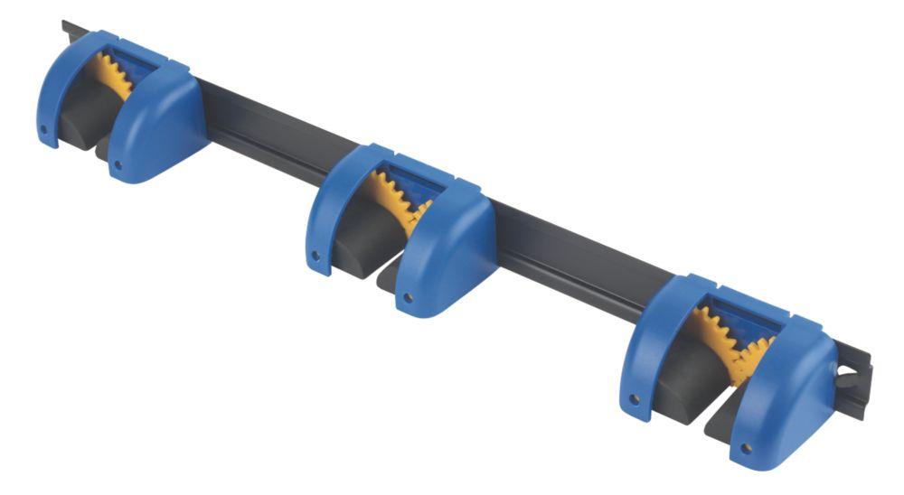 Smith & Locke 3 Tool Hanger Rail Black / Blue 48mm