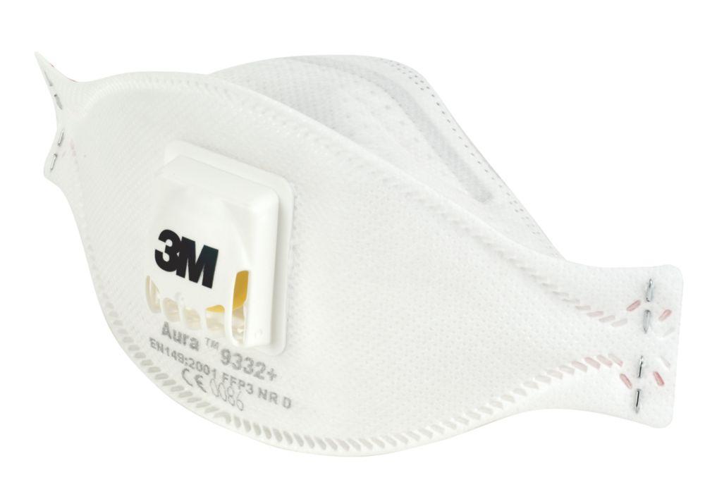 3M 9332+ Disposable Valved Dust/Mist/Fume Respirator P3