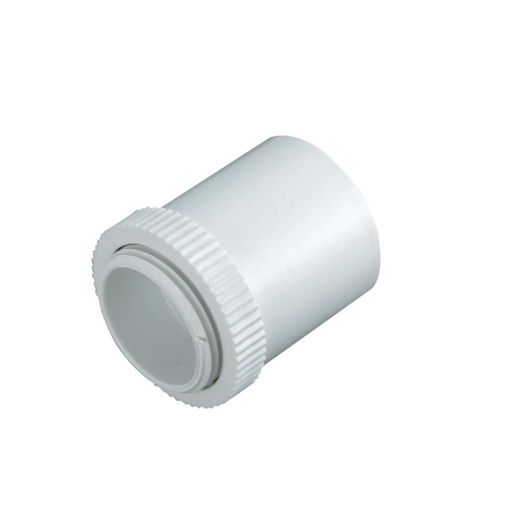 Tower Male Adaptors 25mm White Pack of 2