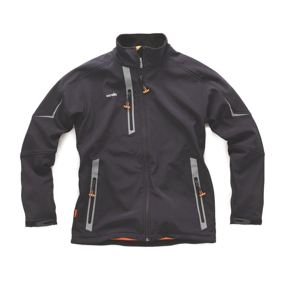 "Scruffs Pro Softshell Jacket  Black  XX Large 48-50"" Chest"