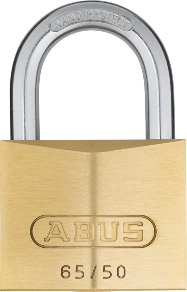 Abus Premium 65 Brass     Padlock 50mm
