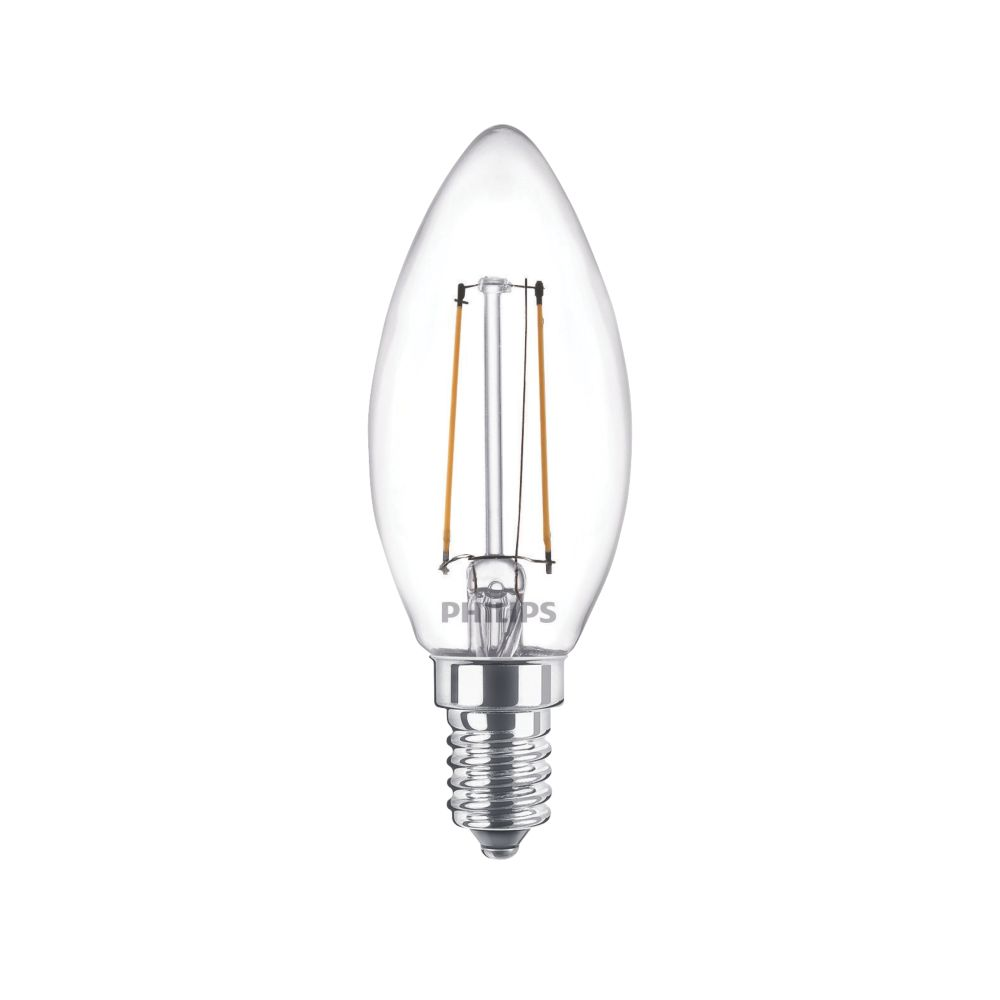 Philips  SES Candle LED Virtual Filament Light Bulb 470lm 5W