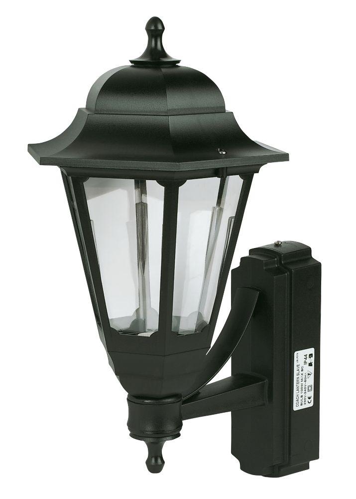 ASD 100W Black Coach Lantern Wall Light