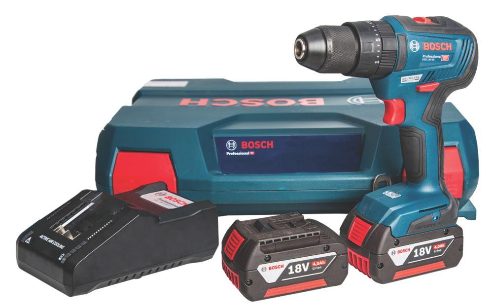 Bosch GSB 18 V-55 18V 4.0Ah Li-Ion Coolpack Brushless Cordless Combi Drill