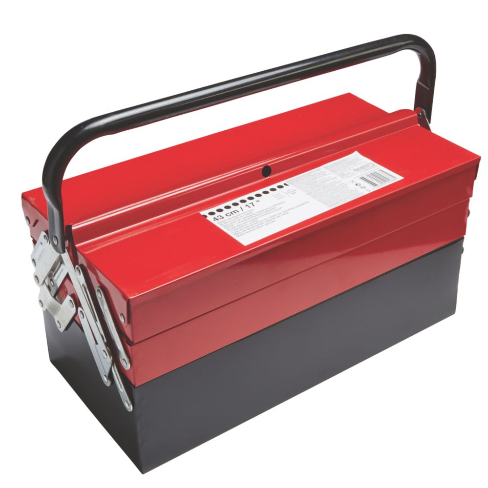 "Metal Cantilever Tool Box 17"""