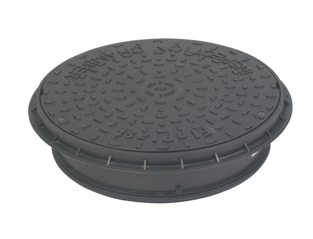 FloPlast  Restricted Access Chamber Lid Black 135mm
