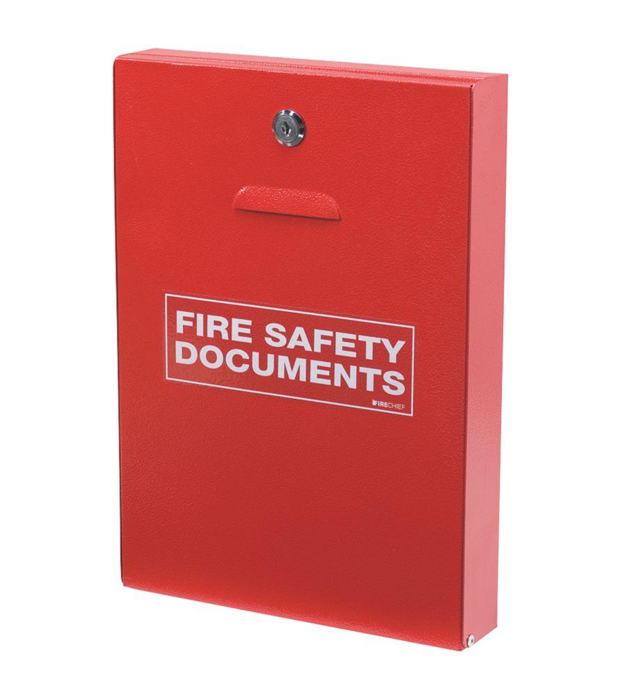 Firechief  Key Lock Fire Document Cabinet 252 x 60 x 350mm Red